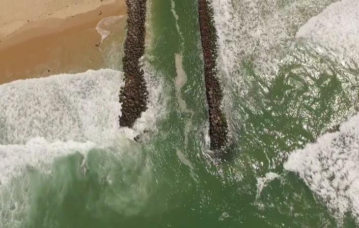 drone plage vue aérienne