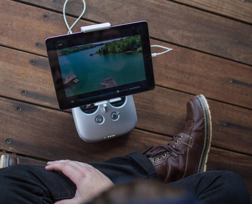 pilote drone tablette