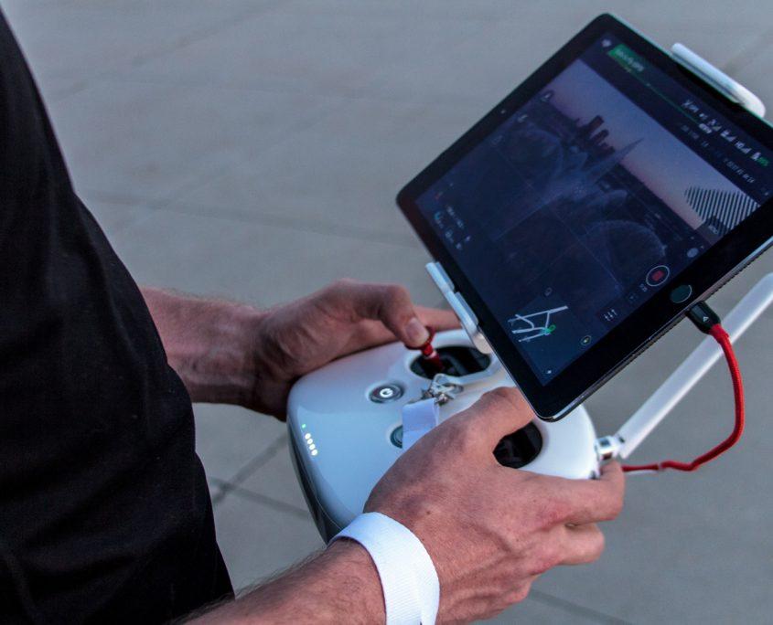 tablette drone prise de vue
