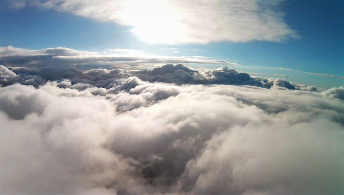 drone ciel vue nuage soleil photo