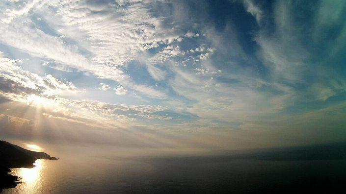 ciel nuageux drone