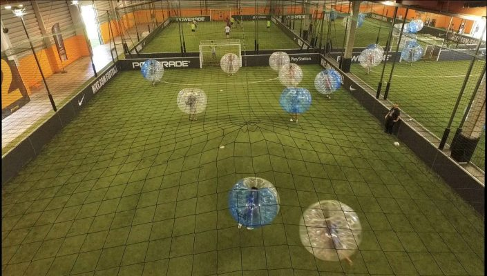bubble futsal drone