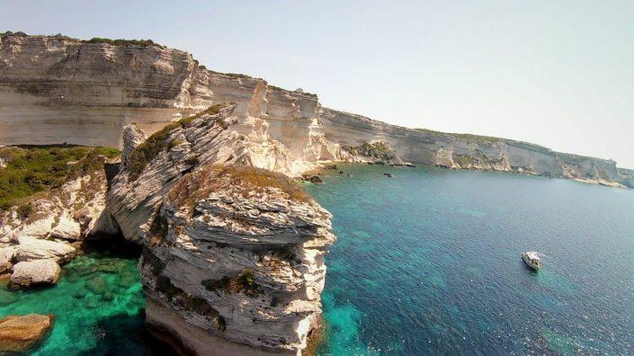 bateau falaise bonifacio drone