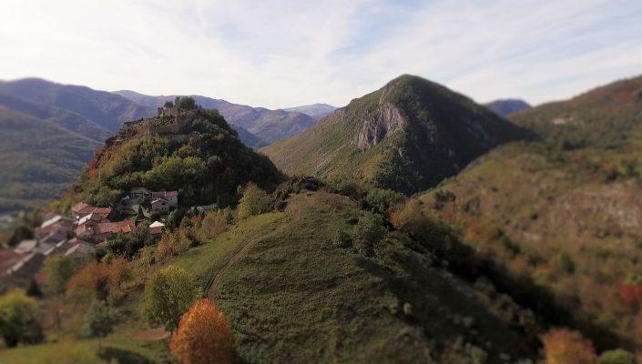 drone prise de vue aérienne village