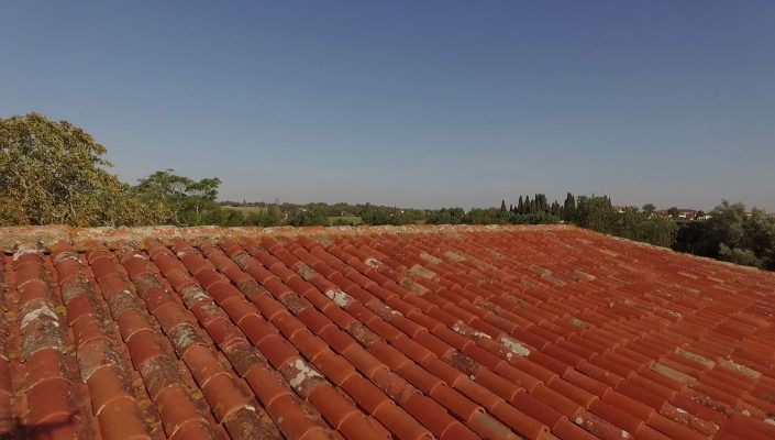 drone rénovation immobilier toiture