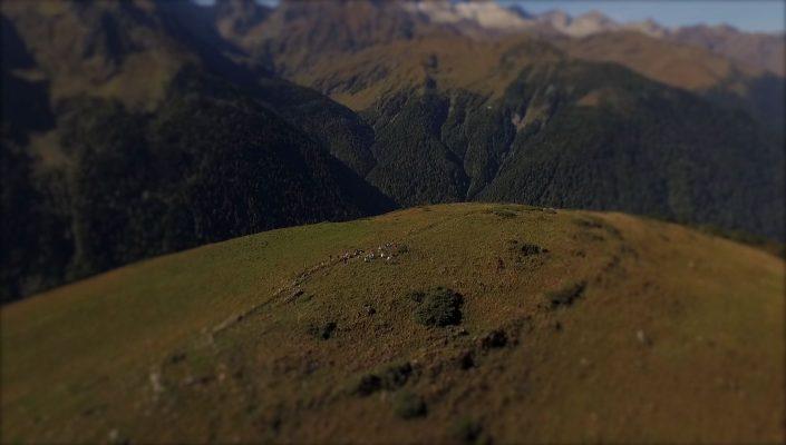 drone video montagne